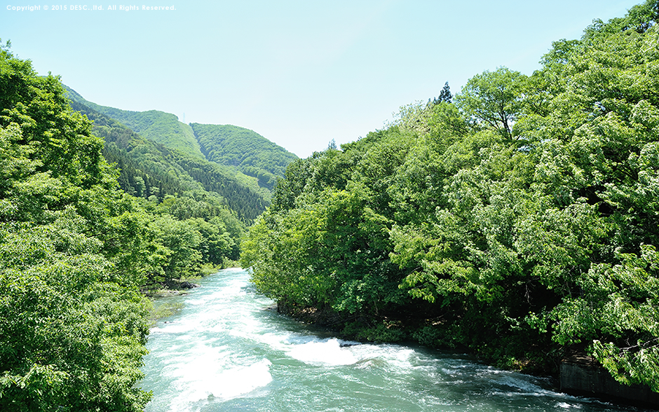 奥利根三湖から流れる川